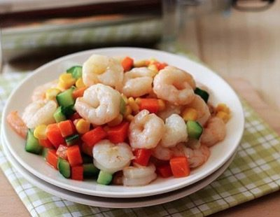 Chinese Colorful Fried Shrimps Recipe