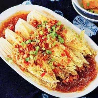 Noodle And Baby Cabbage With Garlic Sauce Recipe