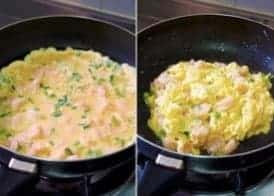 Shrimp With Fried Eggs Recipe step5