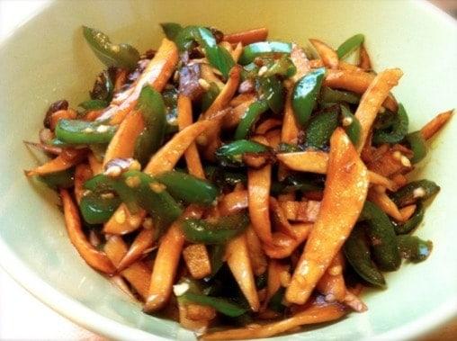 Stir-fried Pepper and Abalone Mushrooms Recipe