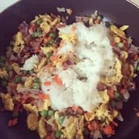 Chinese Fried Rice With Eggs Recipe Step3