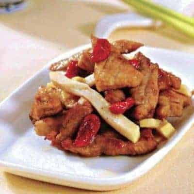 Chinese Stir fried Lean Pork with Goji Recipe