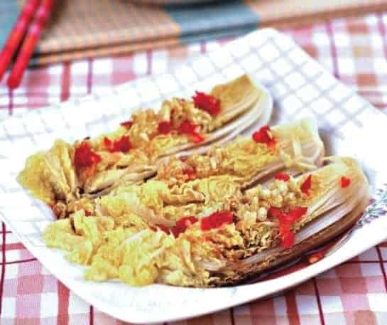 Chinese Steamed Cabbage With Chopped Pepper Recipe