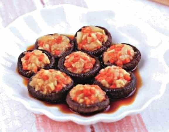 Chinese Steamed Stuffing Mushroom Recipe