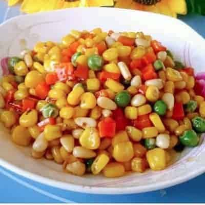 Chinese Stir fry Pine Nuts And Corns Recipe 1