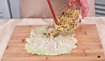 Steamed Chinese Cabbage Roll Recipe Step2
