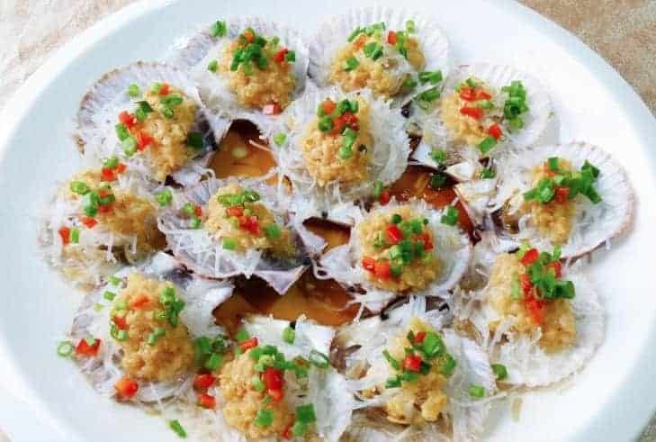 Steamed Scallop With Fermented Black Soybean Paste
