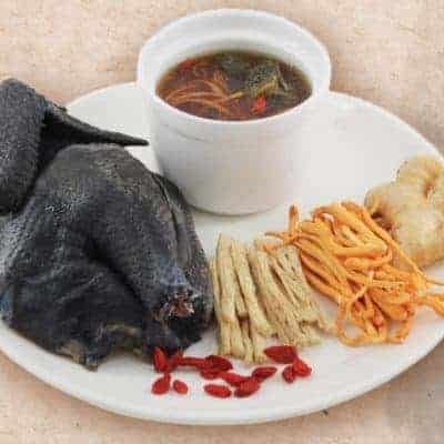 Chinese Medicative Black Chicken Soup Recipe
