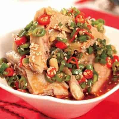Chinese Steamed Chicken with Chili Sauce Recipe