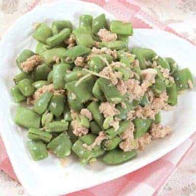 Fried Green Beans With Shrimp Paste