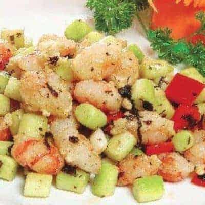 3 Steps Fried Shrimp With Kale Borecole Recipe
