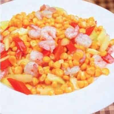 Sauteed Shrimp With Tender Corn Recipe