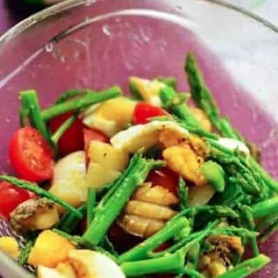 Assorted Vegetable and Abalone Salad Recipe