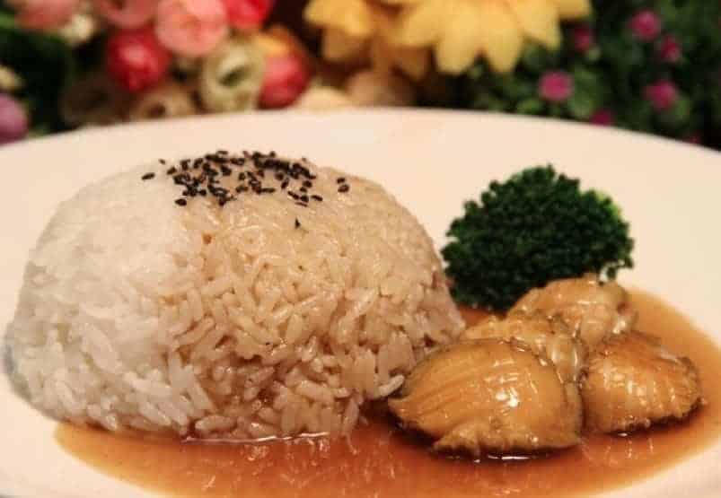 Chinese Simmered Abalone With Rice