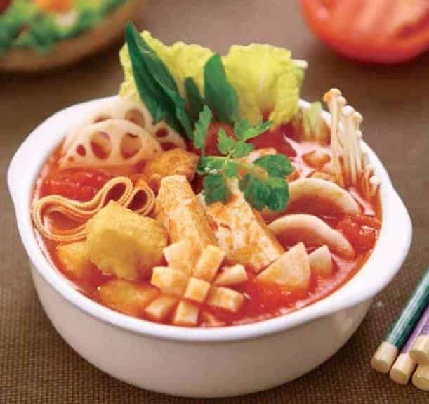 Chinese Tomato Chicken Soup Hot Pot Base 1
