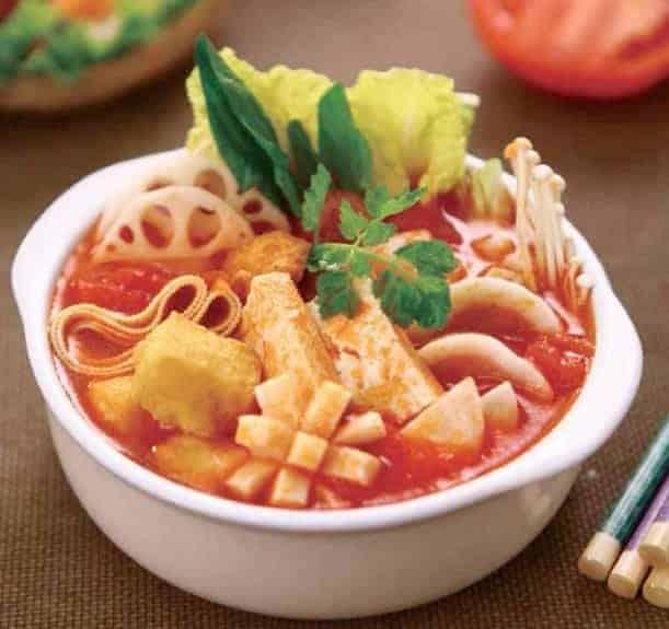 Chinese Tomato Chicken Soup Hot Pot Base