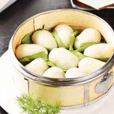 Loquat Leaves Glutinous Rice Cake Recipe