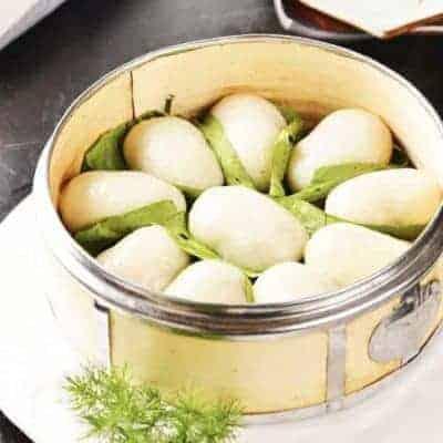 Loquat Leaves Glutinous Rice Cake Recipe