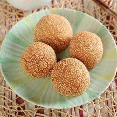 Red Bean Paste Glutinous Rice Ball Recipe