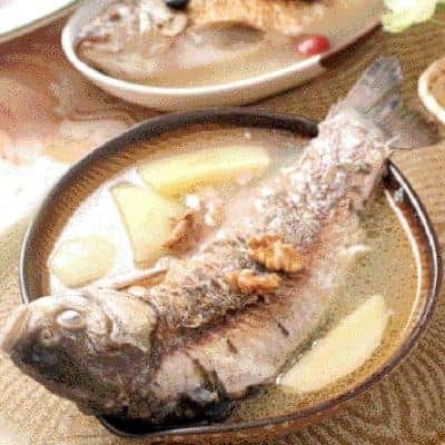 Apple Walnut Carp Fish Soup Recipe