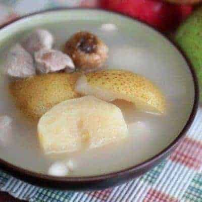 Easy Pear and White Fungus Pork Soup Recipe