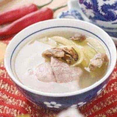 Dried Oyster Pickled Vegetable Pork Soup Recipe