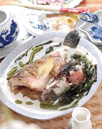 Sweet Potato Leaves Fish Soup Recipe