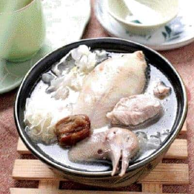 White Fungus and Red Date Pigeon Soup Recipe