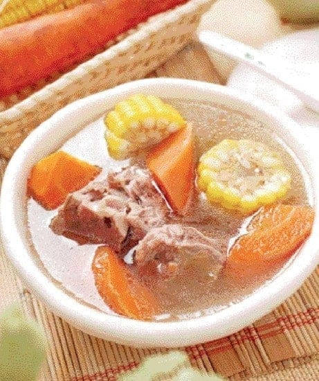 Corn and Carrot Pork Bones Soup Recipe