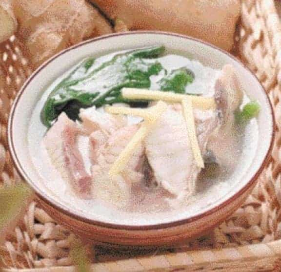 Malabar Spinach Grass Carp Fish Fillet Soup Recipe