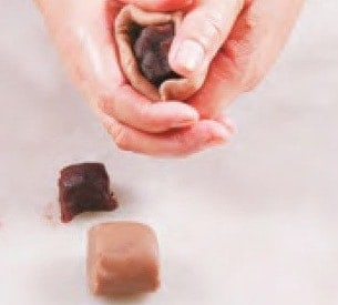 Cocoa Flavour Bean Paste Peanut shaped Bun Recipe step6