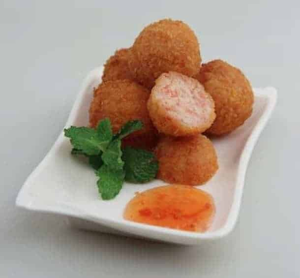 Fried Shrimp and Crab Meat Ball Recipe