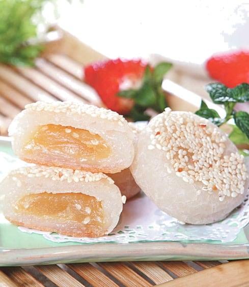 Fried Sesame Round Cake Recipe