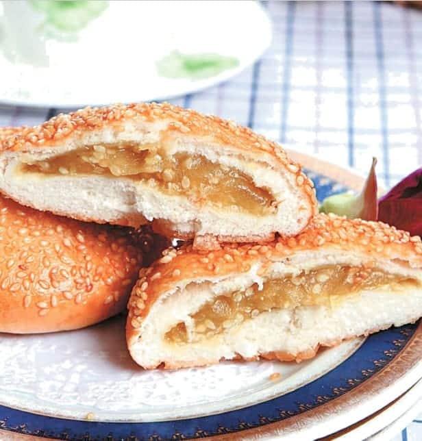 Fried Lotus Paste Sesame Pie Recipe