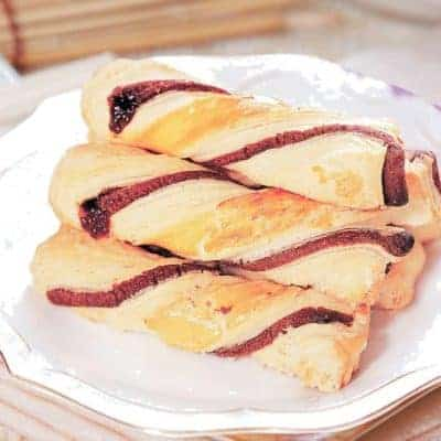 Roasted Bean Paste Twist Pastry Recipe