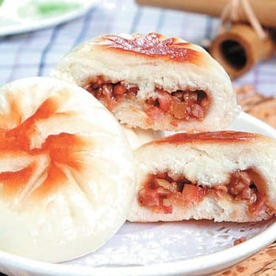 Fried Oyster Sauce Flavour Char Siu Pork Bun Recipe