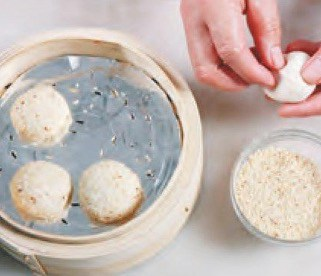 Fried Sesame Cake Recipe step5