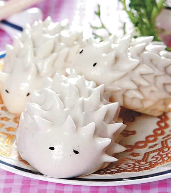 Hedgehog Shape Bun Recipe