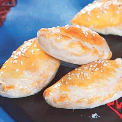 Roasted Bean Paste Crispy Dumpling Recipe