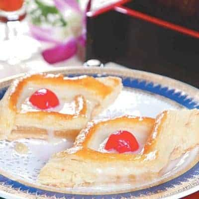 Custard and Cherry Pancake Recipe