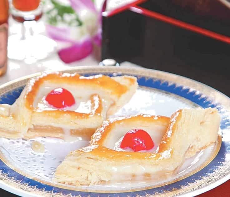 Custard and Cherry Pancake Recipe