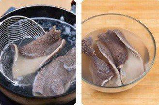 Stir fried Winter Bamboo Shoots Lamb Tripe step2