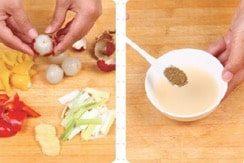 Litchi Chicken Meat Ball step1