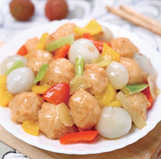 Litchi Chicken Meat Ball