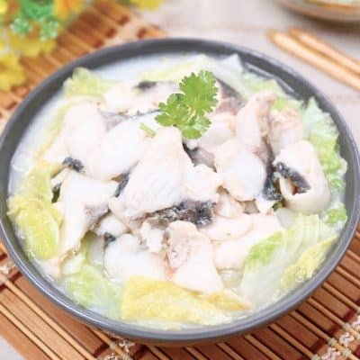 Stewed Grass Carp with Chinese Cabbage YuBaiShao